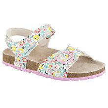 Buy John Lewis Girl Oona Floral Print Sandals, Multi Online at johnlewis.com