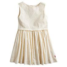 Buy Little Joule Girls' Luella Broderie Dress, Creme Online at johnlewis.com