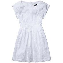 Buy Tommy Hilfiger Girls' Broidery Dress, White Online at johnlewis.com
