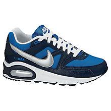 Buy Nike Air Max Command Trainers, Navy/Blue Online at johnlewis.com