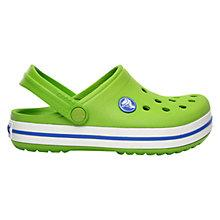 Buy Crocs Kids' Crocband Childrens' Clogs, Green Online at johnlewis.com