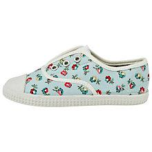 Buy Cath Kidston Elgin Ditsy Canvas Pumps, Turquoise/Multi Online at johnlewis.com