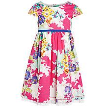 Buy John Lewis Girl Short Sleeve Multi Flower Print Dress, Multi Online at johnlewis.com