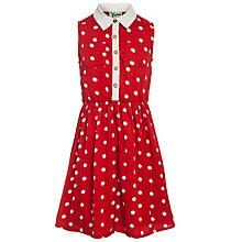 Buy Yumi Girl Spot Shirt Dress, Red Online at johnlewis.com