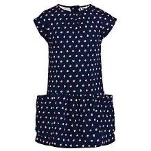 Buy Kin by John Lewis Drop Waist Pea Print Dress, Navy Online at johnlewis.com