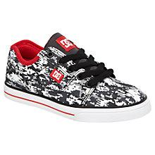 Buy DC Shoes Bristol Canvas Trainers, Black/White Online at johnlewis.com