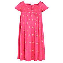 Buy John Lewis Girl Pattern Smocked Jersey Dress, Pink Online at johnlewis.com
