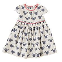 Buy John Lewis Baby Mouse Poplin Dress, White/Grey Online at johnlewis.com