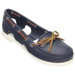 Buy Crocs Beach Line Women's Boat Shoes, Navy / White Online at johnlewis.com