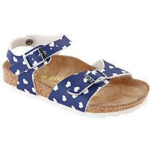 Buy Birkenstock Heart Sandals, Blue/White Online at johnlewis.com
