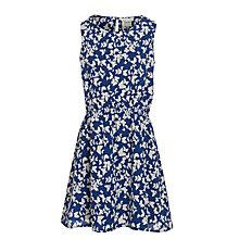 Buy Yumi Girl Butterfly Print Dress, Navy/Cream Online at johnlewis.com