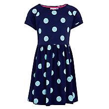 Buy John Lewis Girl Jersey Spot Dress, Blue Online at johnlewis.com