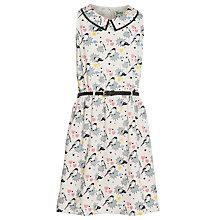 Buy Yumi Girl Pop Art Bird Print Dress, Cream/Multi Online at johnlewis.com