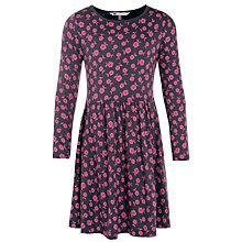Buy John Lewis Girl Jersey Floral Dress, Grey/Pink Online at johnlewis.com
