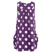Buy John Lewis Girl Corduroy Spot Pinafore Dress, Aubergine Online at johnlewis.com