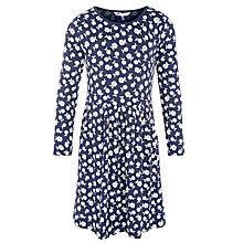 Buy John Lewis Girl Jersey Floral Dress, Navy Online at johnlewis.com