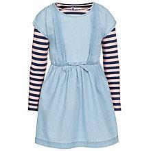 Buy John Lewis Girl Contrast Sleeve Denim Dress, Light Blue Online at johnlewis.com