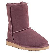Buy UGG Children's Classic Short Boots, Port Online at johnlewis.com