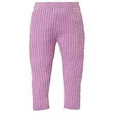 Buy John Lewis Cable Leggings, Pink Online at johnlewis.com