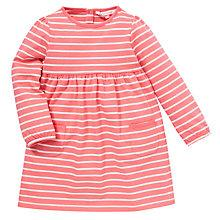 Buy John Lewis Stripe Jersey Cotton Dress, Pink/White Online at johnlewis.com