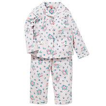 Buy John Lewis Rose Print Pyjamas, Pink/Multi Online at johnlewis.com