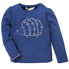 Buy John Lewis Hedgehog Embroidered Top, Blue Online at johnlewis.com