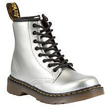 Buy Dr Martens Childrens' Delaney Boots, Silver Online at johnlewis.com