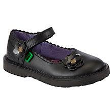 Buy Kickers Adler Leather Shoes, Black Online at johnlewis.com