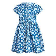 Buy John Lewis Girl Circus Print Cotton Dress, Blue Online at johnlewis.com