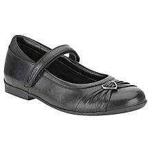 Buy Clarks Dolly Heart Leather Shoes, Black Online at johnlewis.com