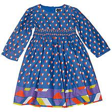 Buy Question Everything Girls Natalia Hearts Hand Smocked Dress, Blue Online at johnlewis.com