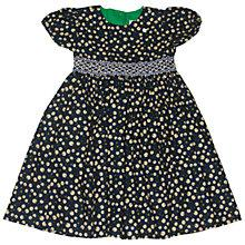 Buy Question Everything Girls' Lola Cord Cherry Hand Smocked Dress, Navy Online at johnlewis.com