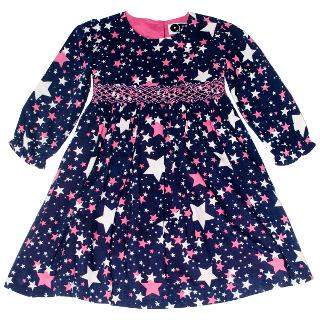 Buy Question Everything Girls' Nova Star Hand Smocked Dress, Blue Online at johnlewis.com