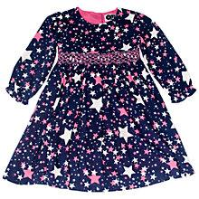 Buy Question Everything Girls' Nova Star Hand Smocked Dress, Blue Online at johnlewis.com