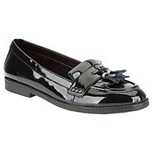 Buy Clarks Childrens' Della Bea Shoes, Black Online at johnlewis.com