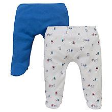 Buy John Lewis Baby Puppy Leggings, Pack of 2, Blue/White Online at johnlewis.com