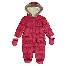 Buy John Lewis Quilted Snowsuit, Berry Online at johnlewis.com