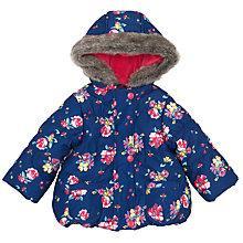 Buy John Lewis Floral Hooded Jacket, Navy/Multi Online at johnlewis.com