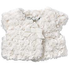 Buy John Lewis Faur Fux Shrug, Cream Online at johnlewis.com