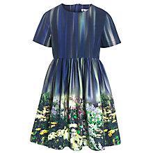 Buy John Lewis Girl Flower Border Print Dress, Multi Online at johnlewis.com