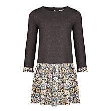Buy John Lewis Girl Half Sparkle Knit Dress, Grey/Multi Online at johnlewis.com