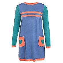Buy John Lewis Girl Heart Pocket Colour Block Dress, Multi Online at johnlewis.com