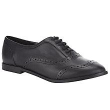 Buy John Lewis Georgie Brogue Leather Shoes, Black Online at johnlewis.com