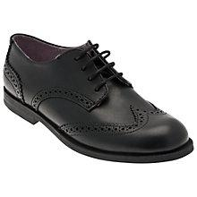 Buy Start Rite Girls' Samba Leather Shoes, Black Online at johnlewis.com