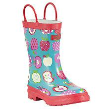 Buy Hatley Apple Orchard Pull-On Wellington Boots, Multi Online at johnlewis.com