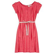 Buy Jigsaw Junior Girls' Flutter Sleeve Dress, Cranberry Online at johnlewis.com