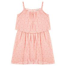 Buy Jigsaw Junior Girls' Mono Tile Print Dress, Pink Online at johnlewis.com
