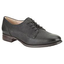 Buy Clarks Busby Fizz Leather Brogues, Black Online at johnlewis.com