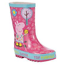 Buy John Lewis Children's Peppa Pig Puddle Jump Wellington Boots, Pink/Multi Online at johnlewis.com