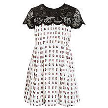 Buy Somerset by Alice Temperley Girls' Kimono Print Lace Top Dress, Cream Online at johnlewis.com